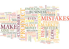 Ten Entrepreneurial Mistakes Text Background Word Cloud Concept Royalty Free Stock Photo