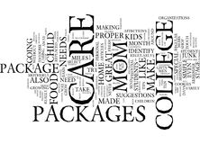 Ten Essential Tips To Make Great College Care Packages Text Background Word Cloud Concept Royalty Free Stock Image