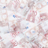 Ten euro background Royalty Free Stock Photos