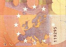 Ten Euro banknote fragment closeup!!! Stock Photos