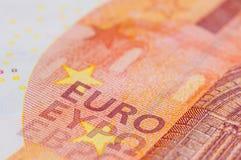Ten Euro Banknote. In a macro shot Royalty Free Stock Photos