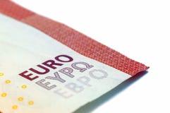 Ten Euro Banknote. In a macro shot Stock Images