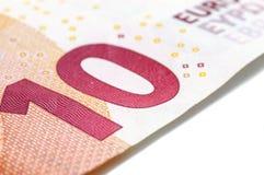 Ten Euro Banknote. In a macro shot Royalty Free Stock Image