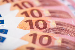 Ten euro banknotes Stock Photo