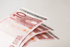 Ten euro banknotes Stock Photos