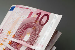 Ten euro banknotes Stock Photo