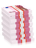 Ten euro banknotes stacks Stock Image