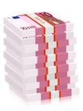 Ten euro banknotes stacks Stock Image