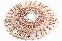 Ten euro bills Royalty Free Stock Image