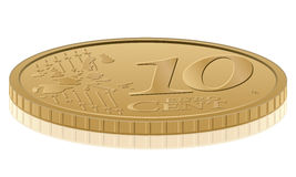 Ten euro cent. Euro coin on white background Stock Photo