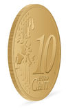 Ten euro cent. Coin on a white background Royalty Free Stock Image