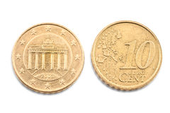 Ten euro cent Royalty Free Stock Photos
