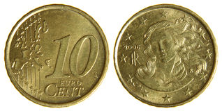 Ten Euro Cents Royalty Free Stock Image