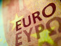Detail of a 10€ euro banknote Stock Photography