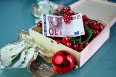 Ten euro gift Stock Photos