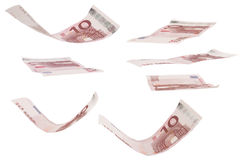 Ten euro greenback. There is some ten euro greenback in various positions Stock Image