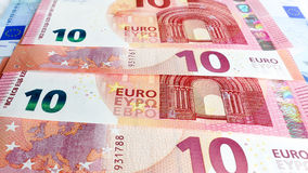 Ten Euro money background Stock Image
