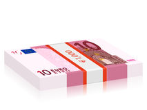 Ten euro stack Stock Photo