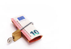 Ten euros locked Stock Photos