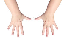 Ten fingers Stock Images