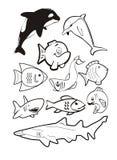 Ten fish Stock Image
