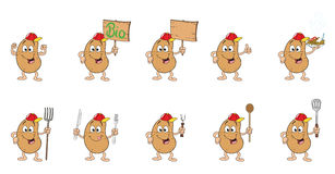 Ten friendly potatoes Royalty Free Stock Images