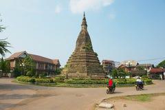 Ten Grobelna stara pagoda w Vientiane, Laos Fotografia Stock
