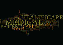 Ten Healthcare Fields That Can T Wait To Hire You Text Background Word Cloud Concept Stock Image