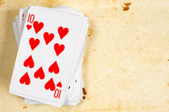 Ten of hearts playing card Stock Images