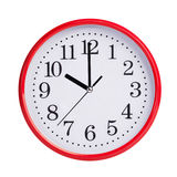 Ten hours on round dial Royalty Free Stock Photo