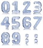 Ten Ice Numbers Royalty Free Stock Photography