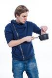 Ten kuchenny garnek jest śmieszny Fotografia Stock