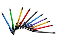 Ten mechanical pencils Royalty Free Stock Photography
