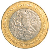 Ten mexican peso coin. Isolated on white background Stock Images