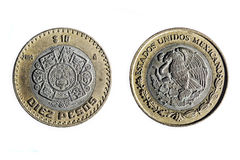 Ten mexican pesos Stock Photography