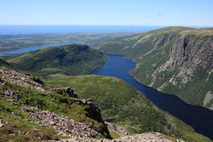 Ten Mile Pond in Newfoundland Stock Image