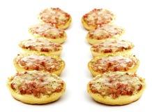 Ten mini pizza Stock Photo