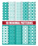 Ten minimal patterns. Ten minimal design of texture patterns Royalty Free Stock Photography