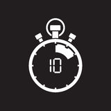 Ten minute stop watch countdown. A ten minute stop watch countdown royalty free illustration