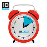 Ten 10 Minutes Red Alarm Clock Royalty Free Stock Image