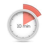Ten minutes timer Royalty Free Stock Photo
