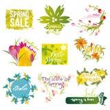 Ten mnemonics on the concept of Spring season Stock Photo