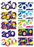 Ten New Year's backgrounds with number 2010. Vector illustration royalty free illustration