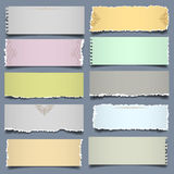 Ten notes paper in pastel colors stock illustration