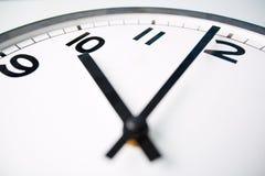 Ten o'clock. Macro shot of a clock face showing ten o'clock royalty free stock photos
