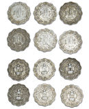 Ten Paise Coins of India Stock Photo