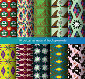 Ten patterns background nature holiday. Royalty Free Stock Image