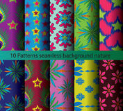 Ten patterns background nature royalty free illustration