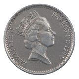 Ten Pence coin Royalty Free Stock Photos