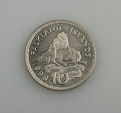 Ten pence Falkland or Malvinas Islands. Royalty Free Stock Image